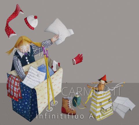 Bimba e vestiti-Illustrazioni © Cinzia Carminati - infinitifluo.com