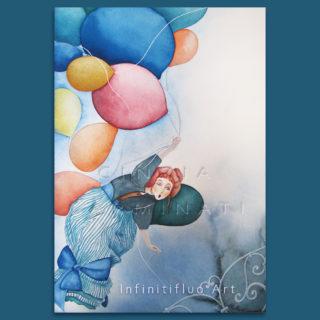 Donna coi palloncini-Peter Pan- illustrazioni