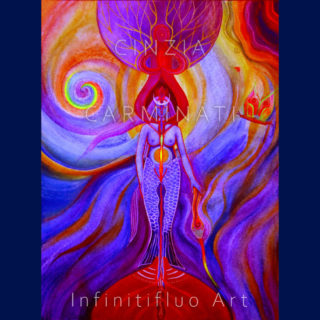 Il Femminile e l'Acqua - pittura intuitiva © Cinzia Carminati - infinitifluo.com