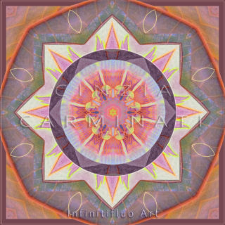 Mandala pittura intuitiva © Cinzia Carminati - infinitifluo.com