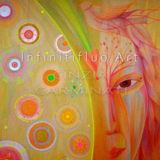Guerriera di Luce - pittura intuitiva © Cinzia Carminati - infinitifluo.com