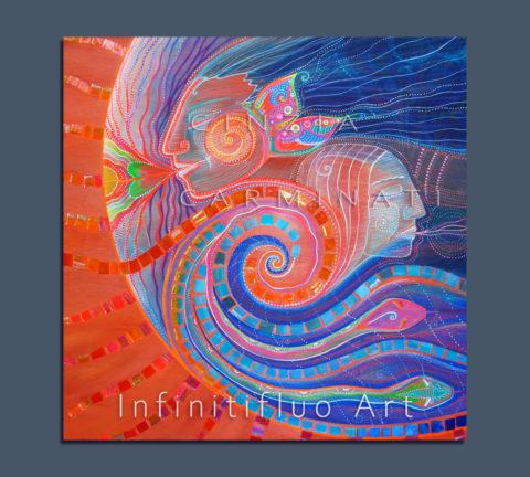 Ondine Spiriti dell'Acqua -pittura intuitiva © Cinzia Carminati - infinitifluo.com