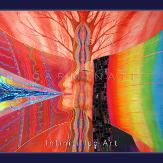 Visione Kundalini pittura intuitiva © Cinzia Carminati - infinitifluo.com